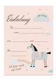 Einladungskarte 'Pferd'