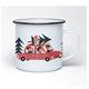 Emaille-Tasse 'Weihnachtsexpress'