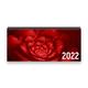 Tischkalender 2022 XL - Blume, rot