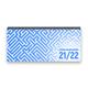 Lehrer-Tischkalender 2021/22 XL - Labyrinth, blau