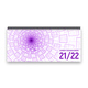 Lehrer-Tischkalender 2021/22 XL - Tunnel, lila