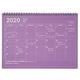 Notebook Calendar M Purple 2020