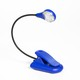 Sureflex80 Blue Dots - warmweisse 8-LED Leselampe mit Klammer