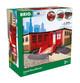 BRIO World 33736 Großer Ringlokschuppen mit Drehscheibe - Zubehör für die BRIO Holzeisenbahn - Kleinkinderspielzeug empfohlen ab 3 Jahren