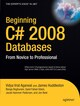 Beginning C 2008 Databases
