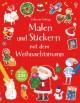 Malen und Stickern mit dem Weihnachtsmann