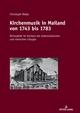 Kirchenmusik in Mailand von 1743 bis 1783