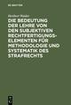 Die Bedeutung der Lehre von den subjektiven Rechtfertigungselementen für Methodologie und Systematik des Strafrechts