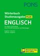 PONS Wörterbuch Studienausgabe Plus Englisch