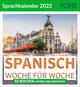Spanisch Woche für Woche - PONS Sprachkalender 2022