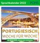 Portugiesisch Woche für Woche - PONS Sprachkalender 2022