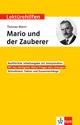 Klett Lektürehilfen Thomas Mann, Mario und der Zauberer