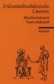Frühmittelhochdeutsche Literatur