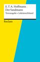 Textausgabe + Lektüreschlüssel. E. T. A. Hoffmann: Der Sandmann