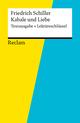 Textausgabe + Lektüreschlüssel. Friedrich Schiller: Kabale und Liebe