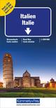 Italien Nord + Süd Strassenkarte