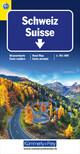 Schweiz TCS 2021 Strassenkarte