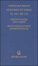 Ratio meditationis hermeneuticae imprimis sacrae methodo systematica proposita