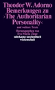 Bemerkungen zu 'The Authoritarian Personality'