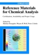 Reference Materials for Chemical Analysis