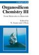 Organosilicon Chemistry III