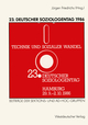 23.Deutscher Soziologentag 1986