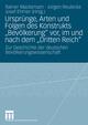 Ursprünge, Arten und Folgen des Konstrukts 'Bevölkerung' vor, im und nach dem 'Dritten Reich'