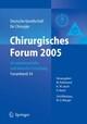 Chirurgisches Forum 2005 für experimentelle und klinische Forschung