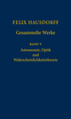 Felix Hausdorff - Gesammelte Werke Band 5