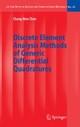 Discrete Element Analysis Methods of Generic Differential Quadratures