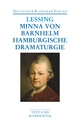 Minna von Barnhelm/Hamburgische Dramaturgie