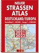 Neuer Straßenatlas Deutschland/Europa 2021/2022