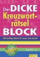 Der dicke Kreuzworträtsel-Block 16