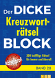Der dicke Kreuzworträtsel-Block 28