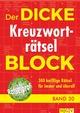 Der dicke Kreuzworträtsel-Block 30