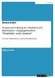 Projektentwicklung im Objektbereich Bürobauten - Ausgangssituation: 'Projektidee sucht Standort'