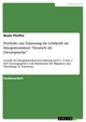 Portfolio zur Zulassung als Lehrkraft im Integrationskurs 'Deutsch als Zweitsprache'