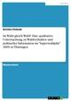 Ist Wahl gleich Wahl? Eine qualitative Untersuchung zu Wahlverhalten und politischer Information im 'Superwahljahr' 2009 in Thüringen