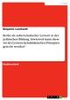 Berlin als außerschulischer Lernort in der politischen Bildung. Inwieweit kann diese Art des Lernens fachdidaktischen Prinzipien gerecht werden?