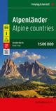 Alpenländer - Österreich - Slowenien - Italien - Schweiz - Frankreich, Autokarte 1:500.000