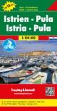 Istrien - Pula, Autokarte 1:100.000, Top 10 Tips