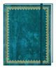 Blank Book Lederlook blau groß