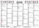 Tafelkalender A4 2019