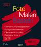 Foto-Malen-Basteln Bastelkalender schwarz groß 2022