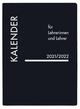 Lehrerkalender PVC schwarz 2021/2022