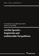 Leichte Sprache - Empirische und multimodale Perspektiven