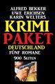 Krimi Paket Deutschland: Fünf Romane - 900 Seiten