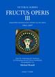 Fructus Operis III