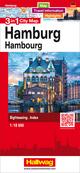 Hamburg 3 in 1 City Map 1:18 500