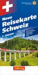 Schweiz Neue Reisekarte Strassenkarte 1:200 000